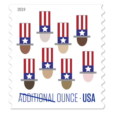 Additional Ounce Stamp - Uncle Sam's Hat - $0.15