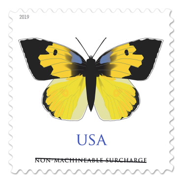 Non-Machineable (square envelope) Stamp - California Dogface - $0.70