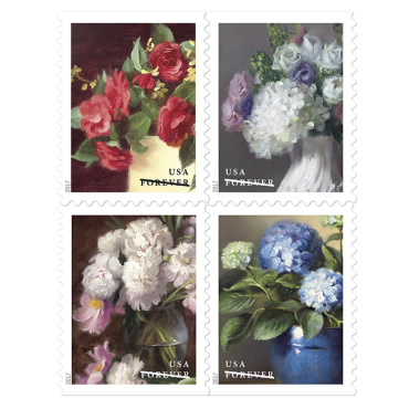 1 oz. Forever Stamp - Flowers From the Garden - $0.55