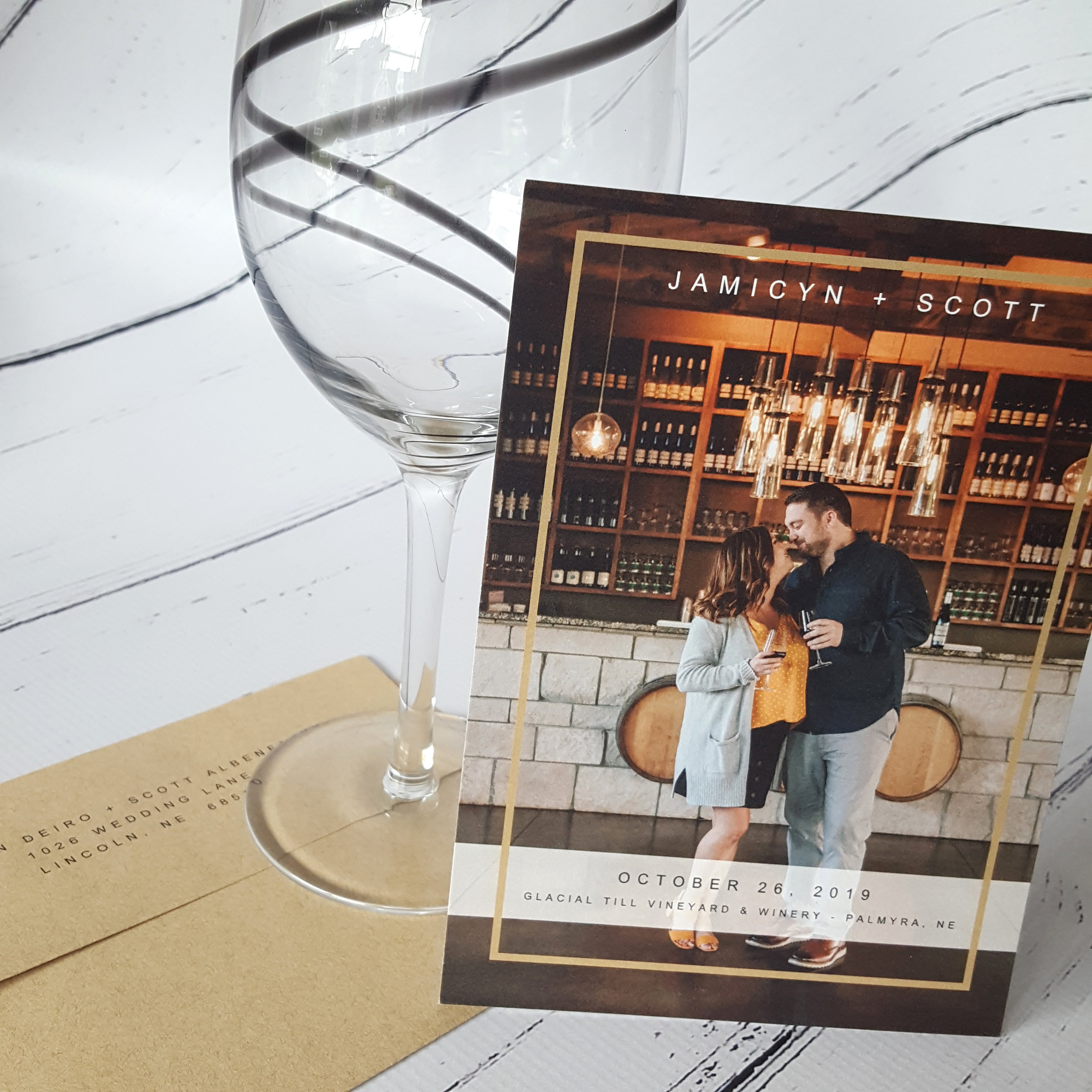 save the date winery card