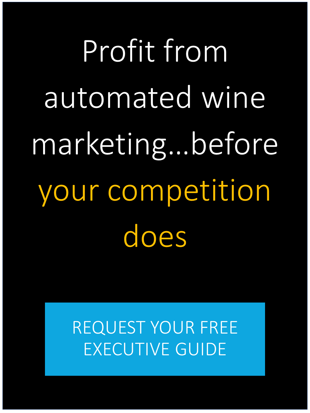 Profit from automated wine marketing…before your competition does!  REQUEST YOUR FREE EXECUTIVE GUIDE