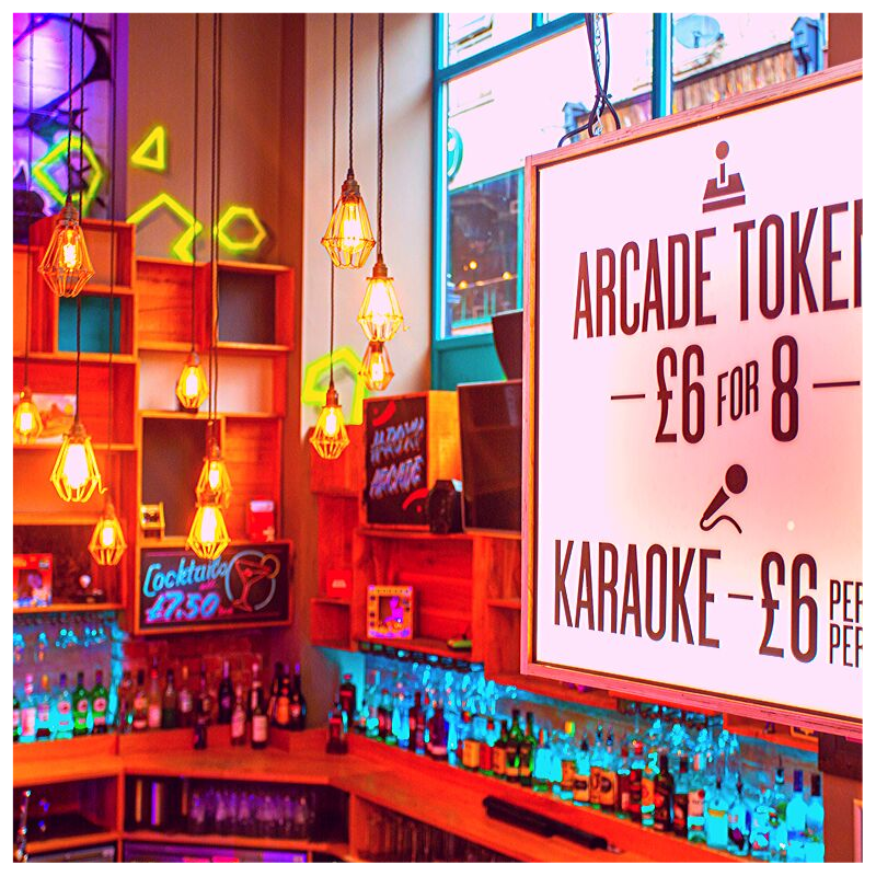 ROXY ARCADE LEEDS - MERRION STREET - OLD SCHOOL ARCADE MACHINES AND 3 PRIVATE KARAOKE ROOMSROXY ARCADE TAKES YOU BACK TO YOUR CHILDHOOD WHILST STILL MANAGING TO BE A GREAT BAR IN THE HEART OF LEEDS.