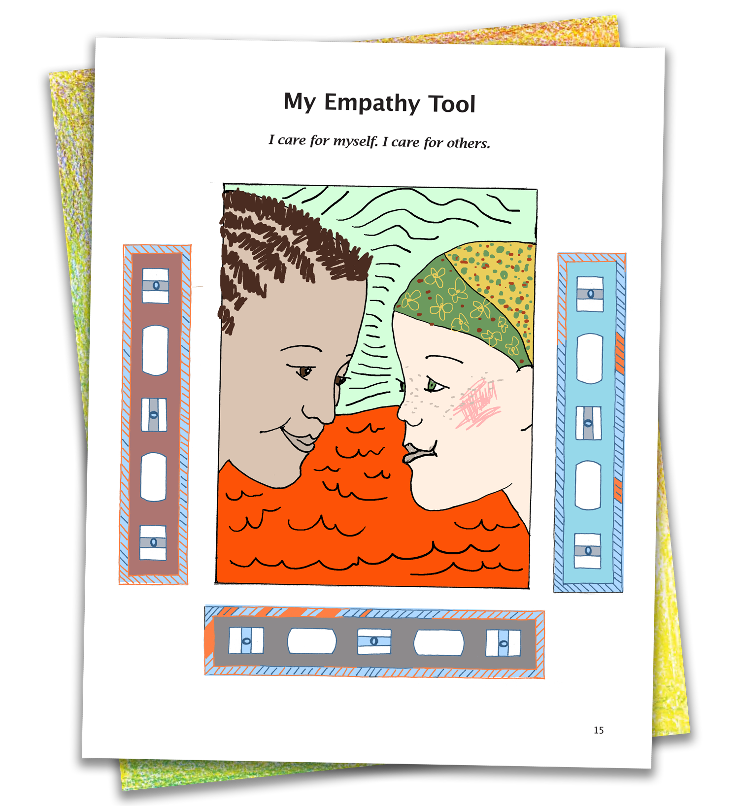 Sample: EMPATHY page colored