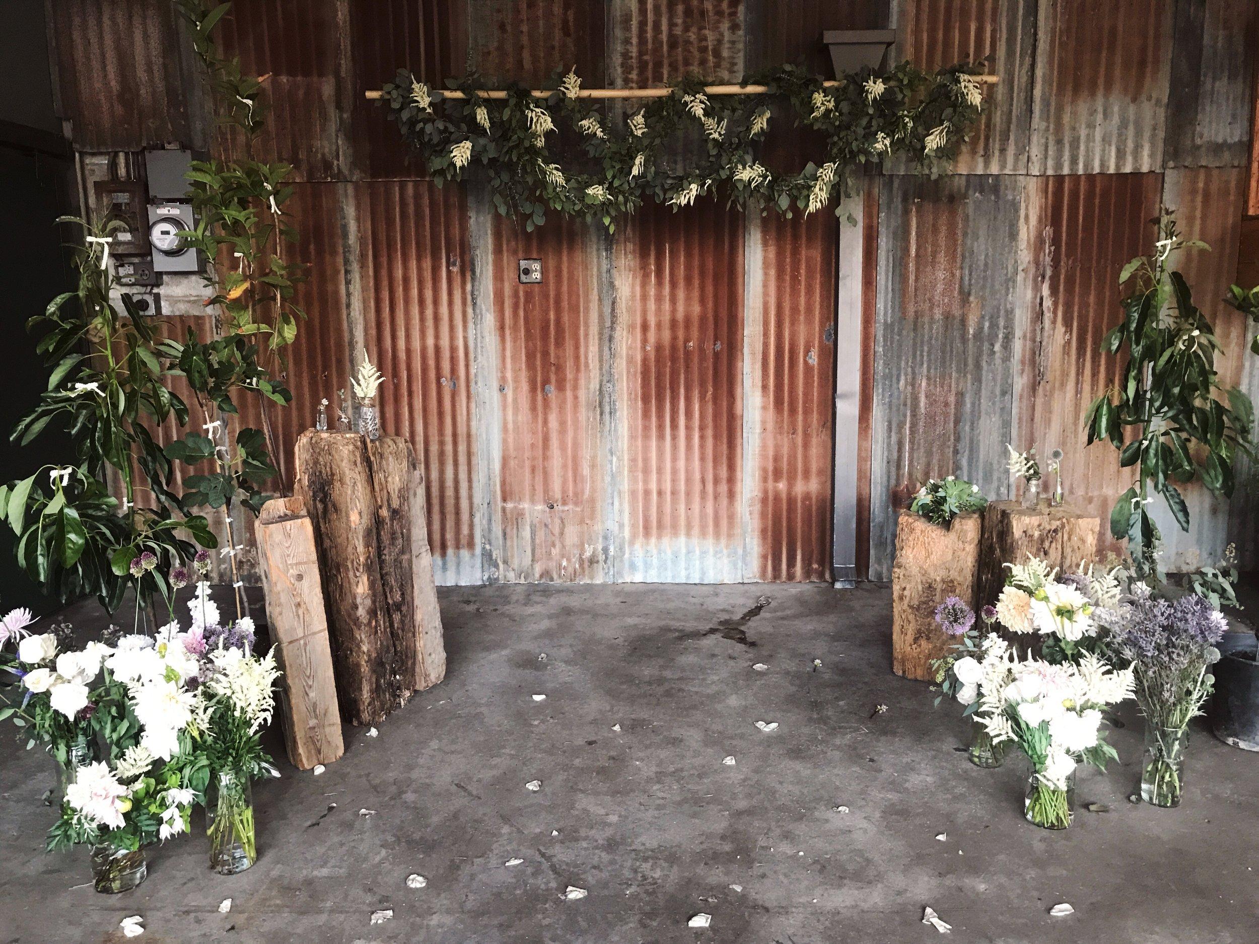 Urban Wedding Alter