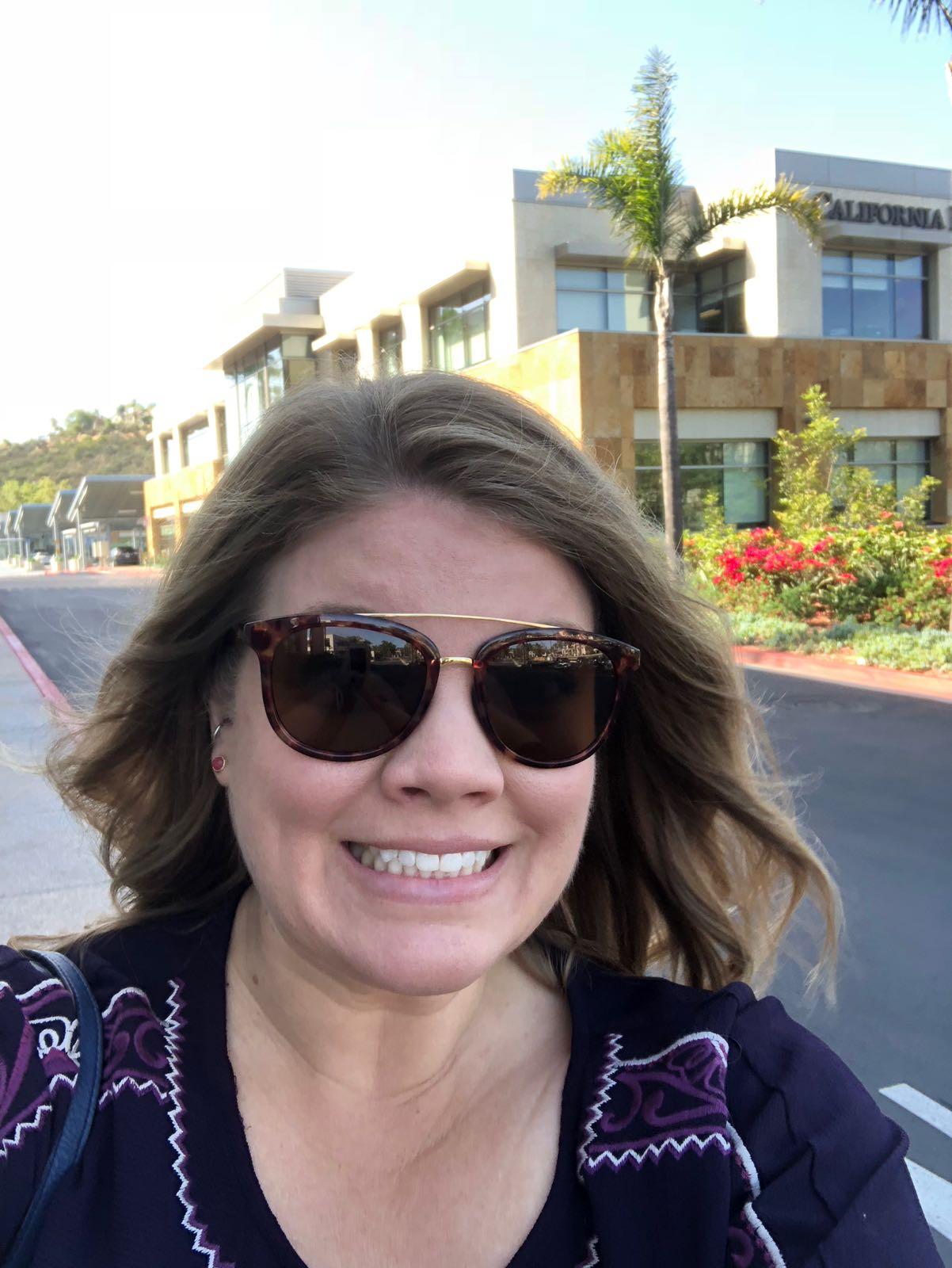 SAN DIEGO: Her er Megan i San Diego.