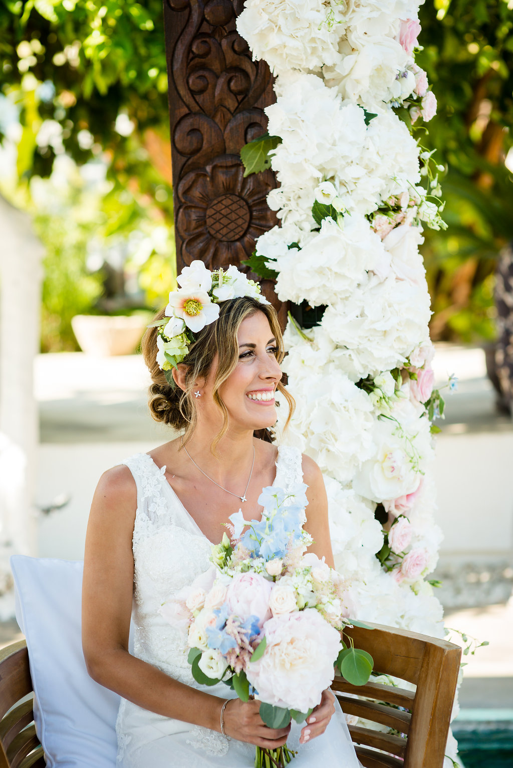 ibiza wedding ceremony, wedding flowers