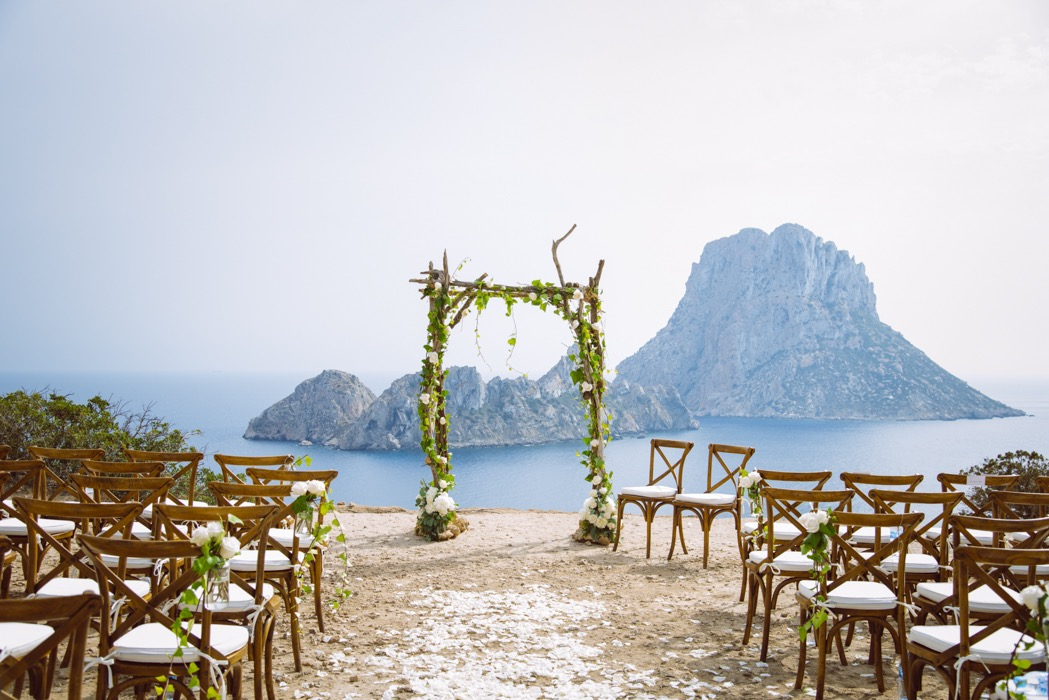 ibiza wedding ceremony, es vedra, wedding planner