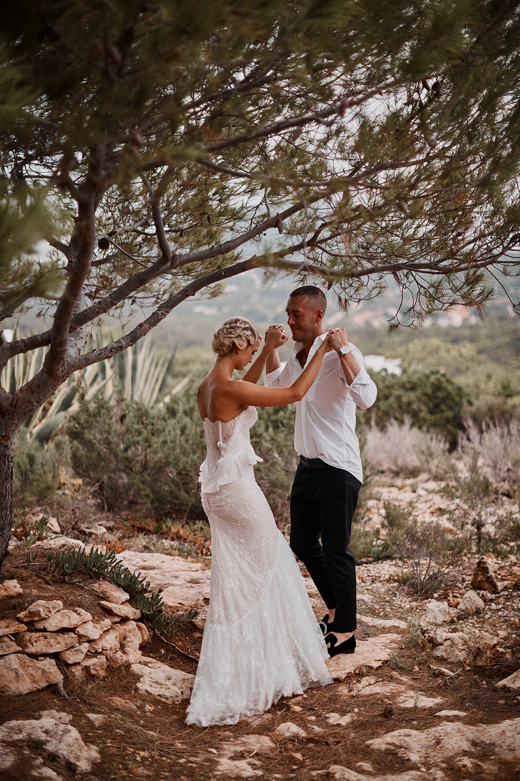 ibiza wedding couple