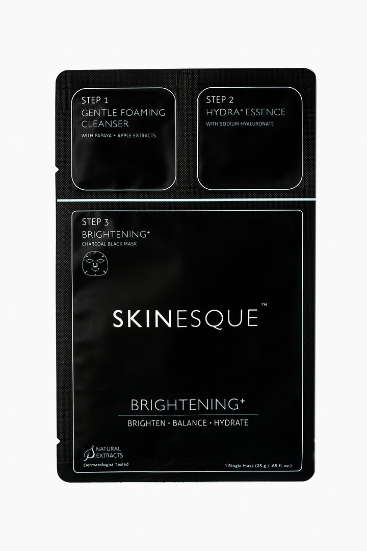 3-Step Brightening and Charcoal Mask$7.50 - I loved using this while traveling because it has everything I need in one packet - a facial cleanser, hydrating essence and a brightening charcoal sheet mask. This was perfect for my one-night stay in London; allowed me to pack light and efficiently for my trip to the city and I had a pamper me moment after a long day of gallivanting around the town. Get yours here and check out the other 3-step products from Skinesque.