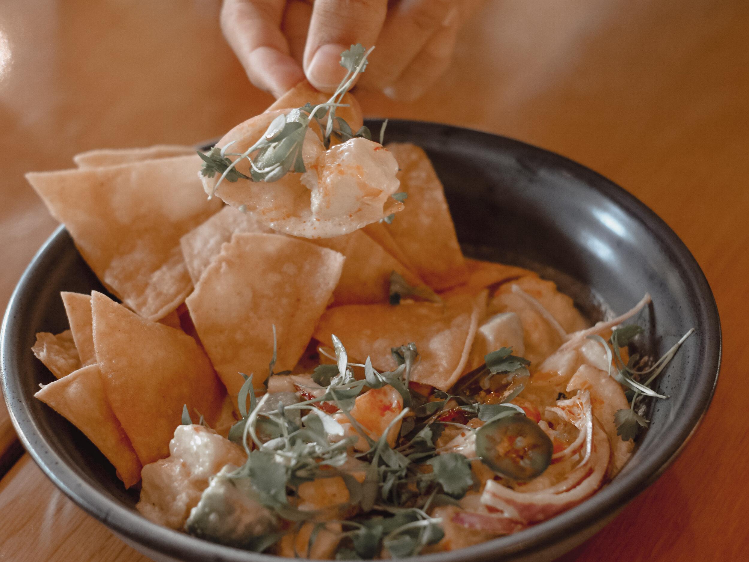 Eats Kitchen & Irvine Shrimp Ceviche on Chip | AMANDANHAMMOND.COM