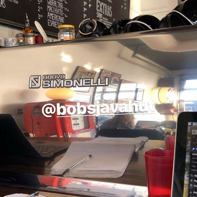 🙏 @craft_notes for hangin' out with us.  #worksbetterwithcoffee #bobsregulars #bobsjavahut #coffeeaddict #coffeelover #mplscoffee  #uptowncoffee #nuovosimonelli