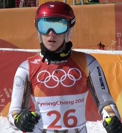 Ester Ledecka, favorite for the slalom in snowboarding couldn't believe she won gold in skiing!