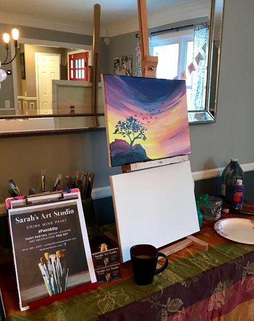 Sarah's Art Studio - Westchester and Putnam - Art Parties & Lessons  - Easel Party Set up.jpg