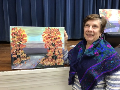 Sarah's Art Studio - Westchester and Putnam - Art Parties & Lessons  - Fall Scene -Senior Student.jpg