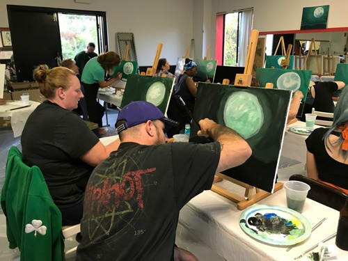 Sarah's Art Studio - Westchester and Putnam - Art Parties & Lessons  - Brewster Party_couple.jpg