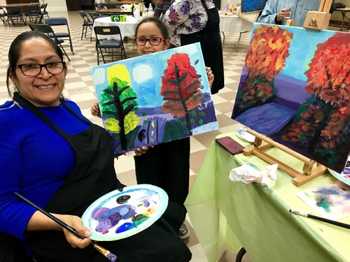 Sarah's Art Studio - Westchester and Putnam - Art Parties & Lessons  - Mom & Daughter Trees.jpg