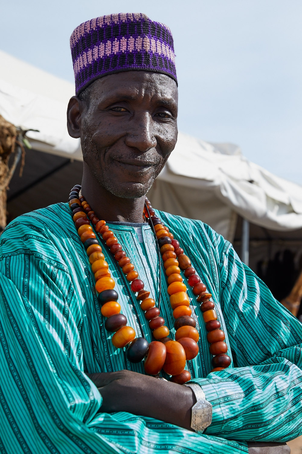 Hudu with Antique African Copal Amber necklaces  Photo: Lynda Churilla
