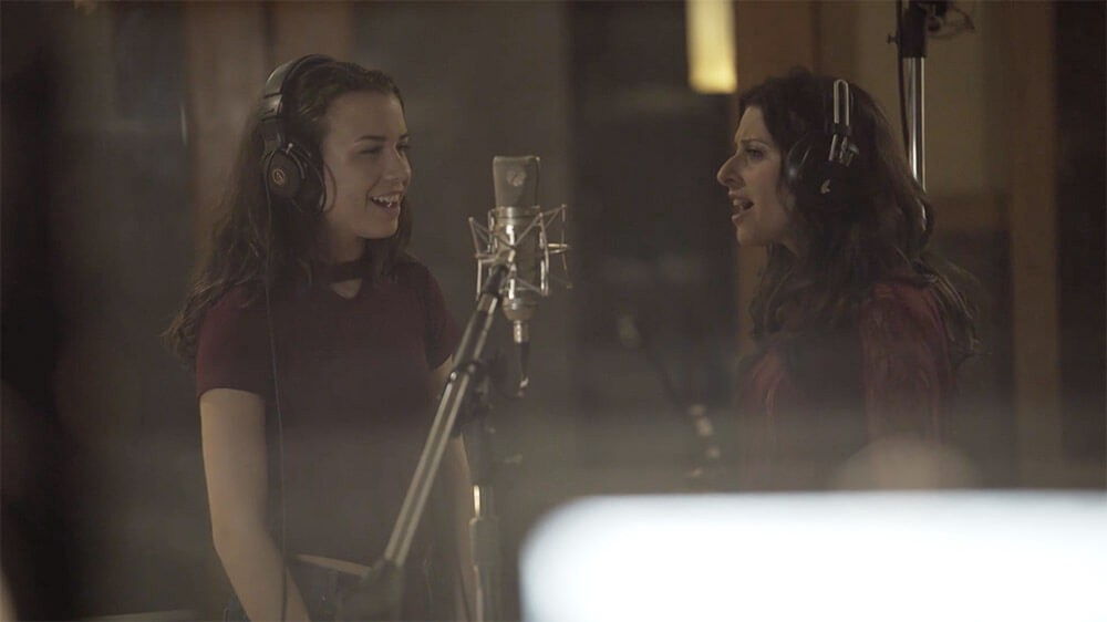 Nicole and Essence in the studio