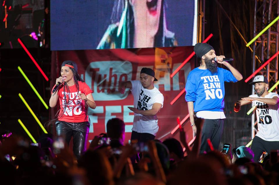 Lilly Singh and Humble The Poet at Youtube FanFest
