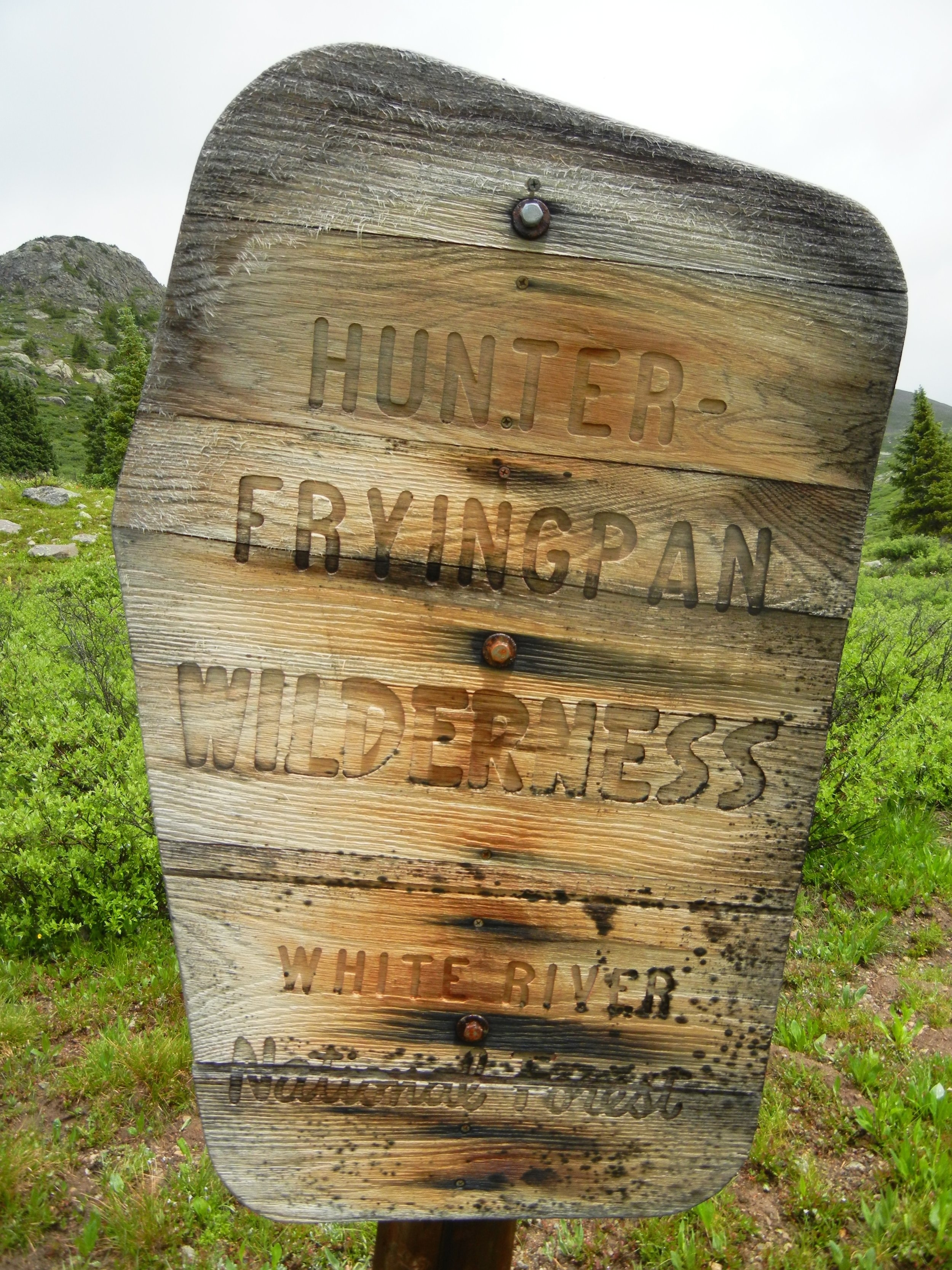 Highway 82 is bordered to the north by the Hunter-Fryingpan Wilderness.