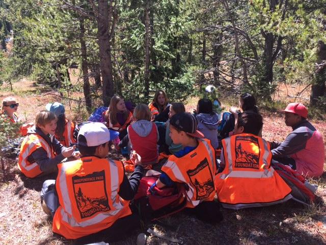 Aspen Middle Schoolers taking a well-earned lunch break