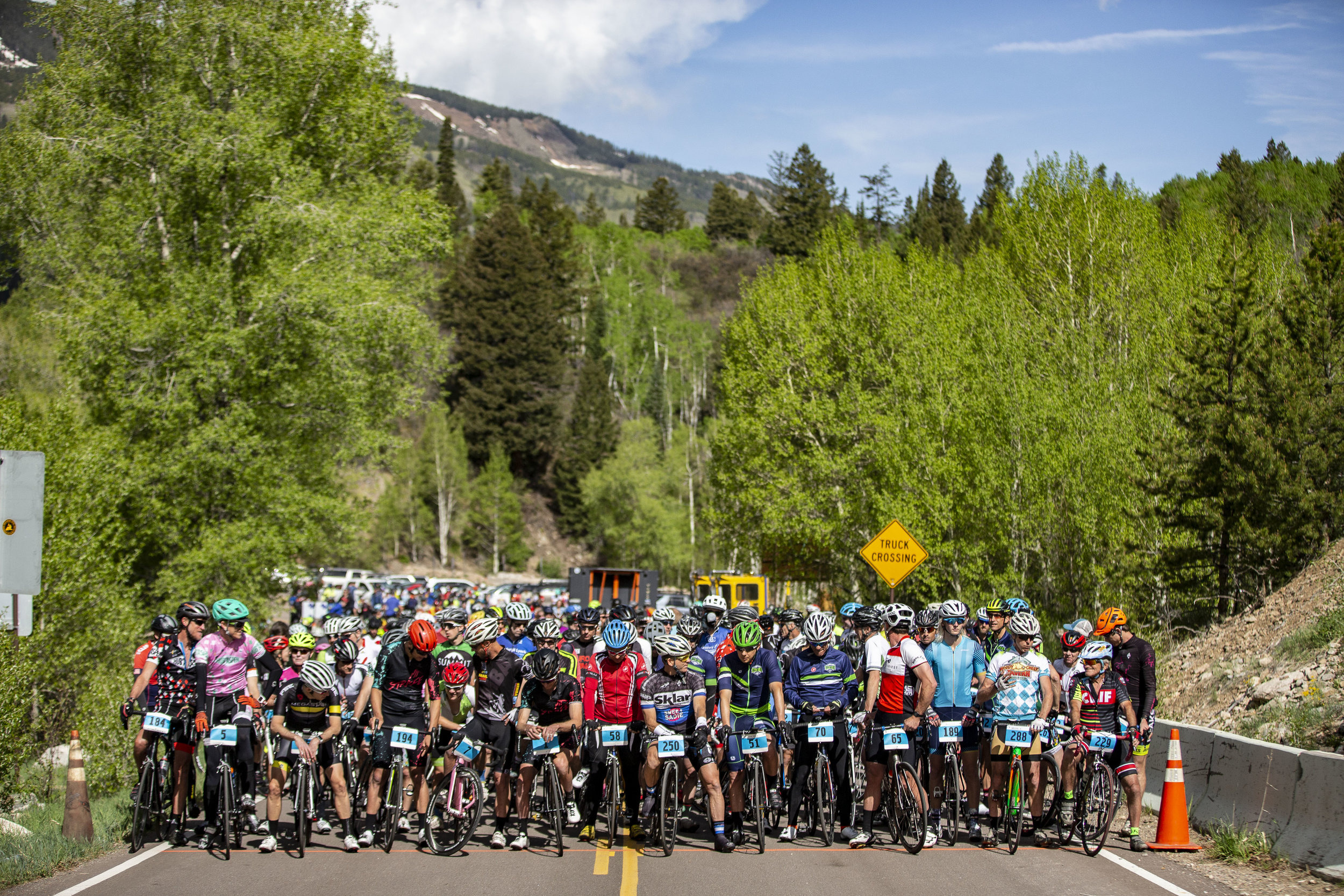 Start of 2018 Ride for the Pass -