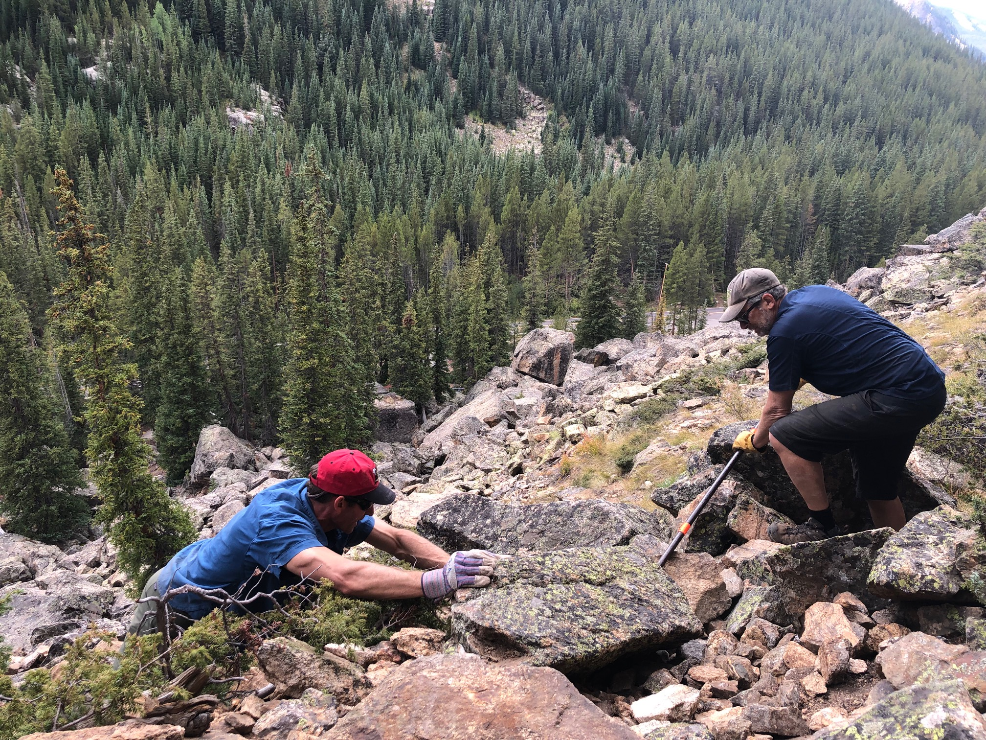 Defining and restoring the Bulldog climbing area access trail