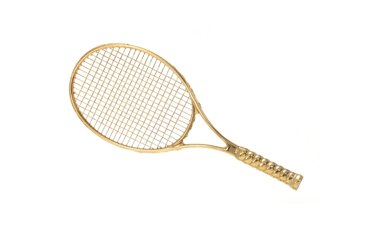 Gold Tennis Racket