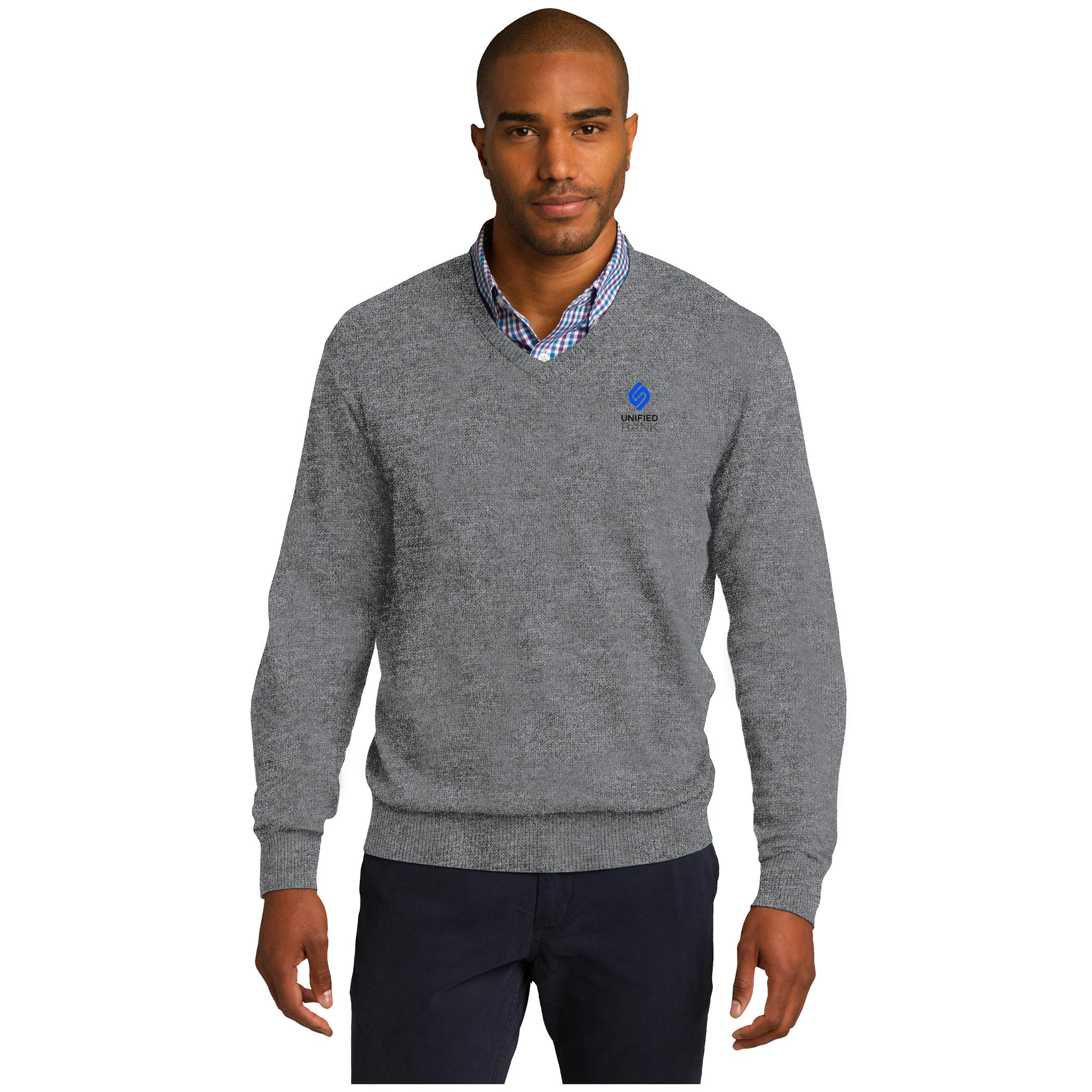 Mens/Unisex Grey V Neck Sweater