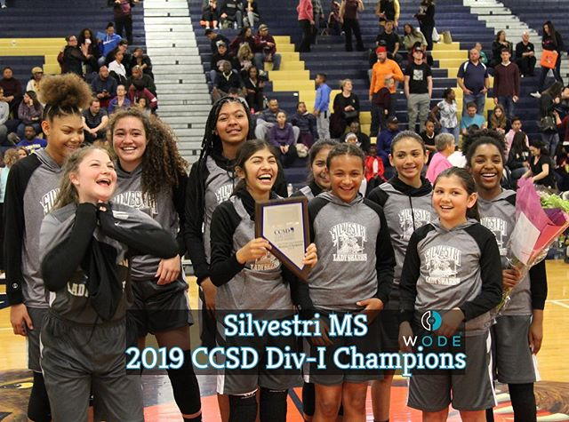Congrats to Silvestri Girl's MS Team for winning the CCSD DIV-I Championship‼️ #ALLin  . . .  @wodescouts @wodemixtapes @wodemotivator