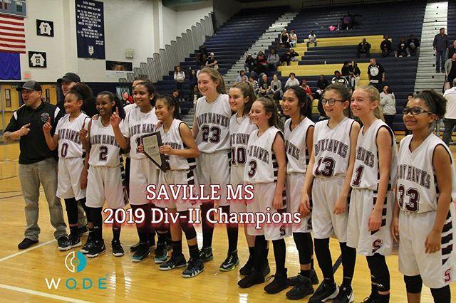 Congrats to Saville Girl's MS Team for winning the CCSD DIV-II Championship‼️ #ALLin . . .  @wodescouts @wodemixtapes @wodemotivator