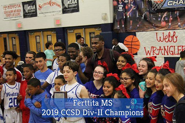 Congrats to Ferttita Boys MS Team for winning the CCSD DIV-II Championship‼️ #ALLin . . .  @wodescouts @wodemixtapes @wodemotivator