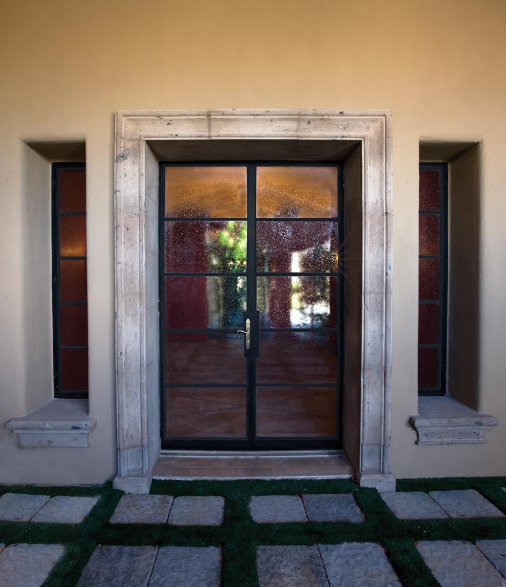 STEEL AND GLASS DOOR 4