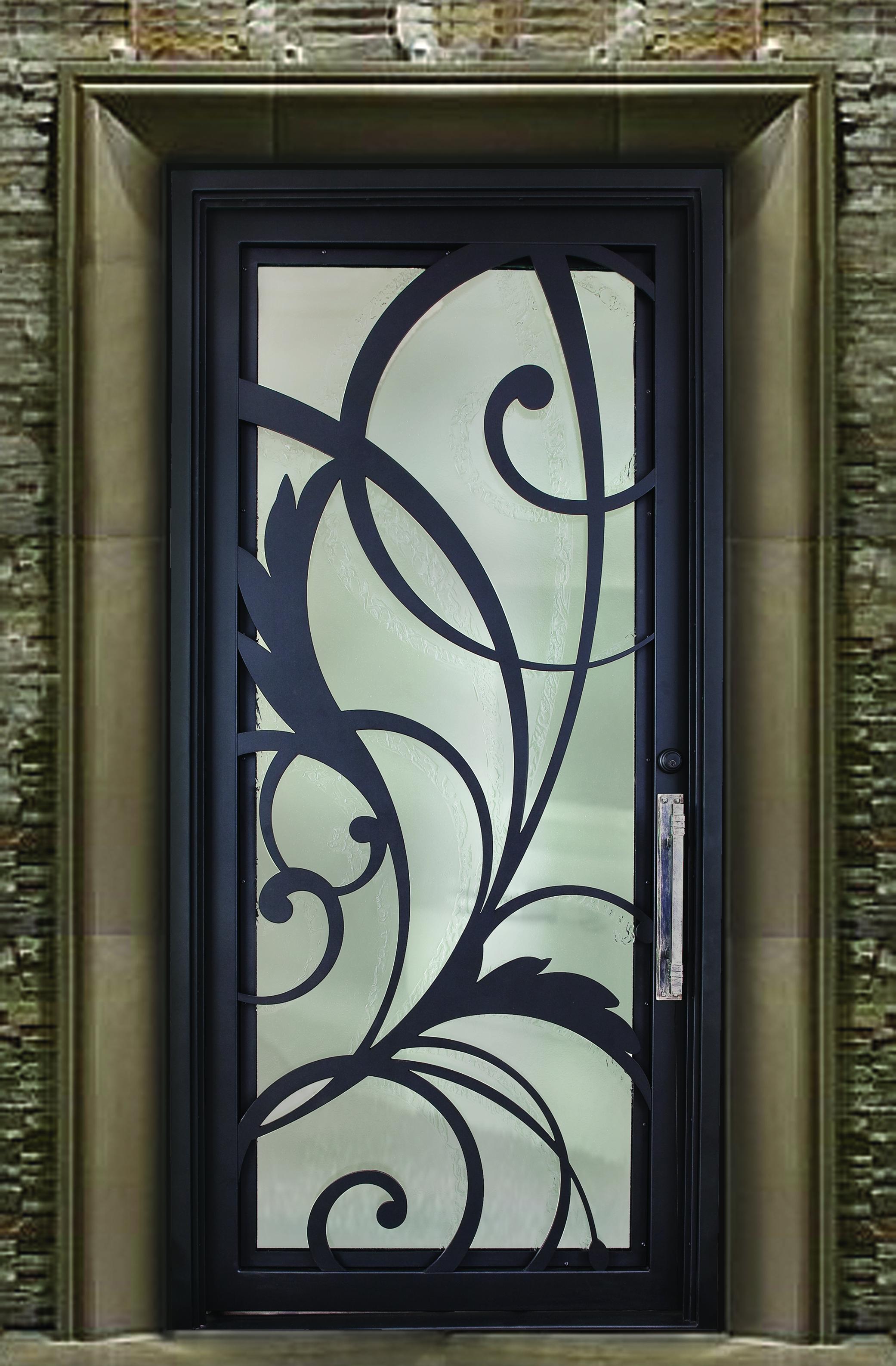 CONTEMPORARY STEEL AND GLASS DOOR 13