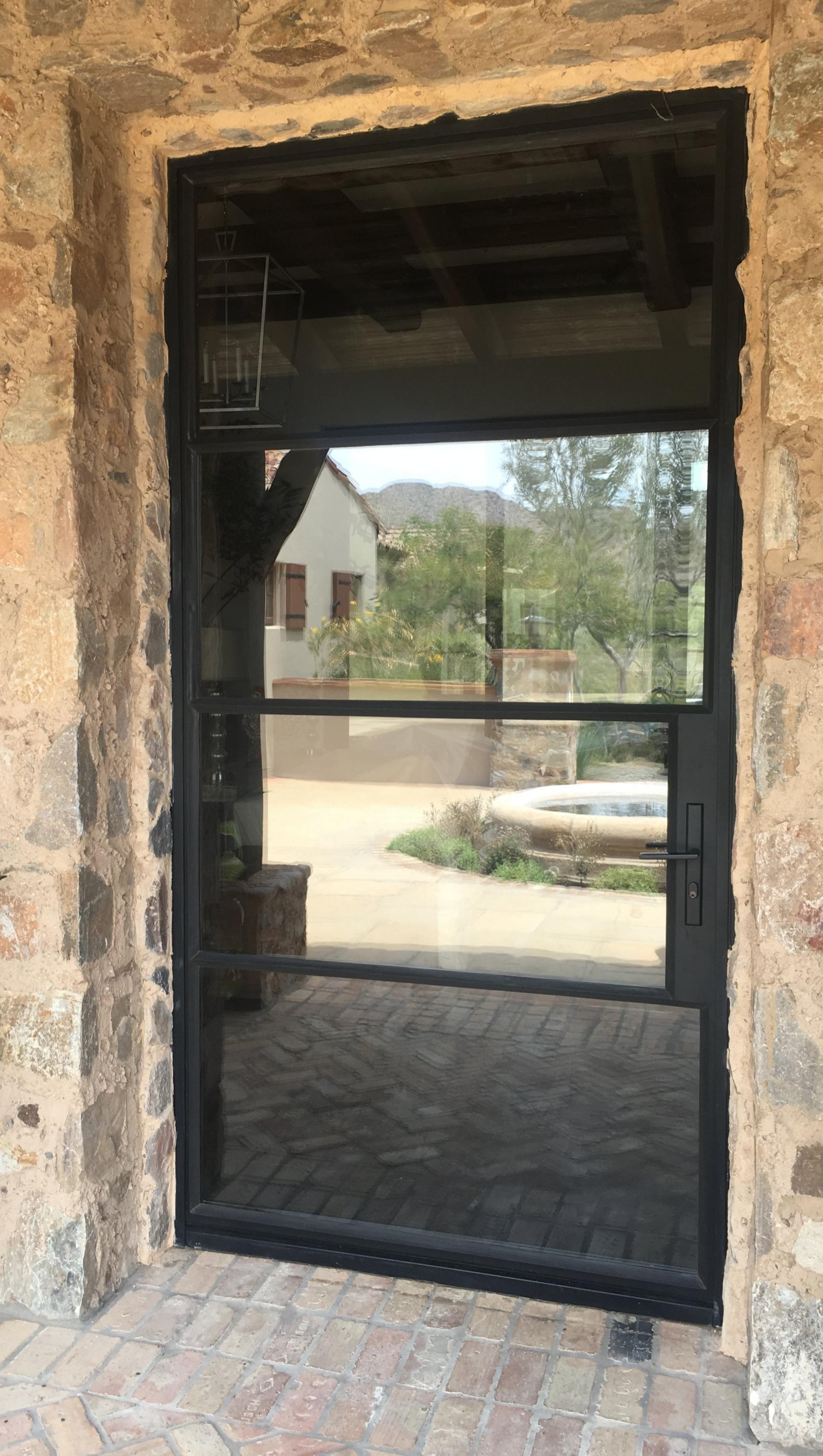 STEEL AND GLASS DOOR 11