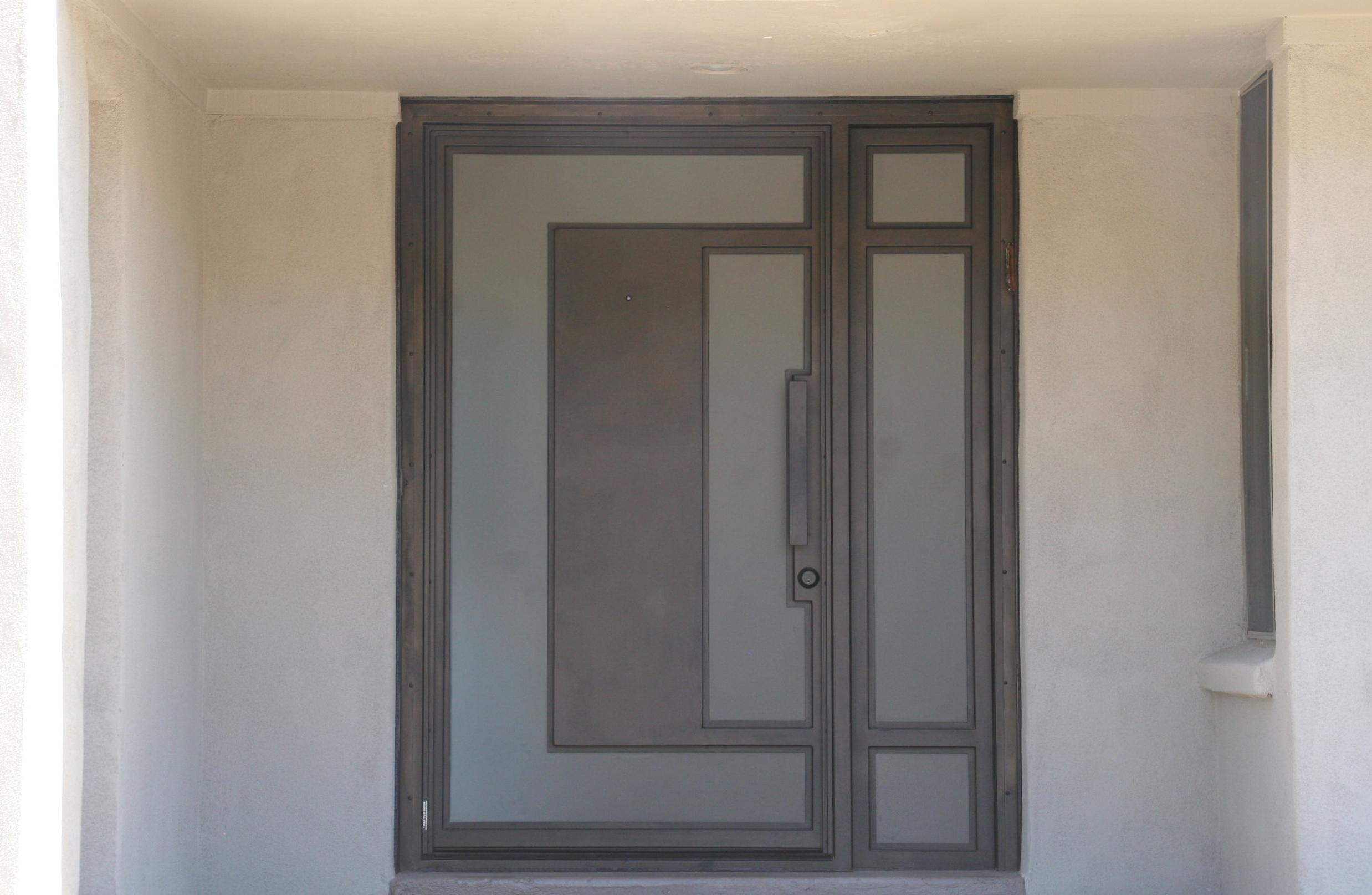CONTEMPORARY STEEL AND GLASS DOOR 19