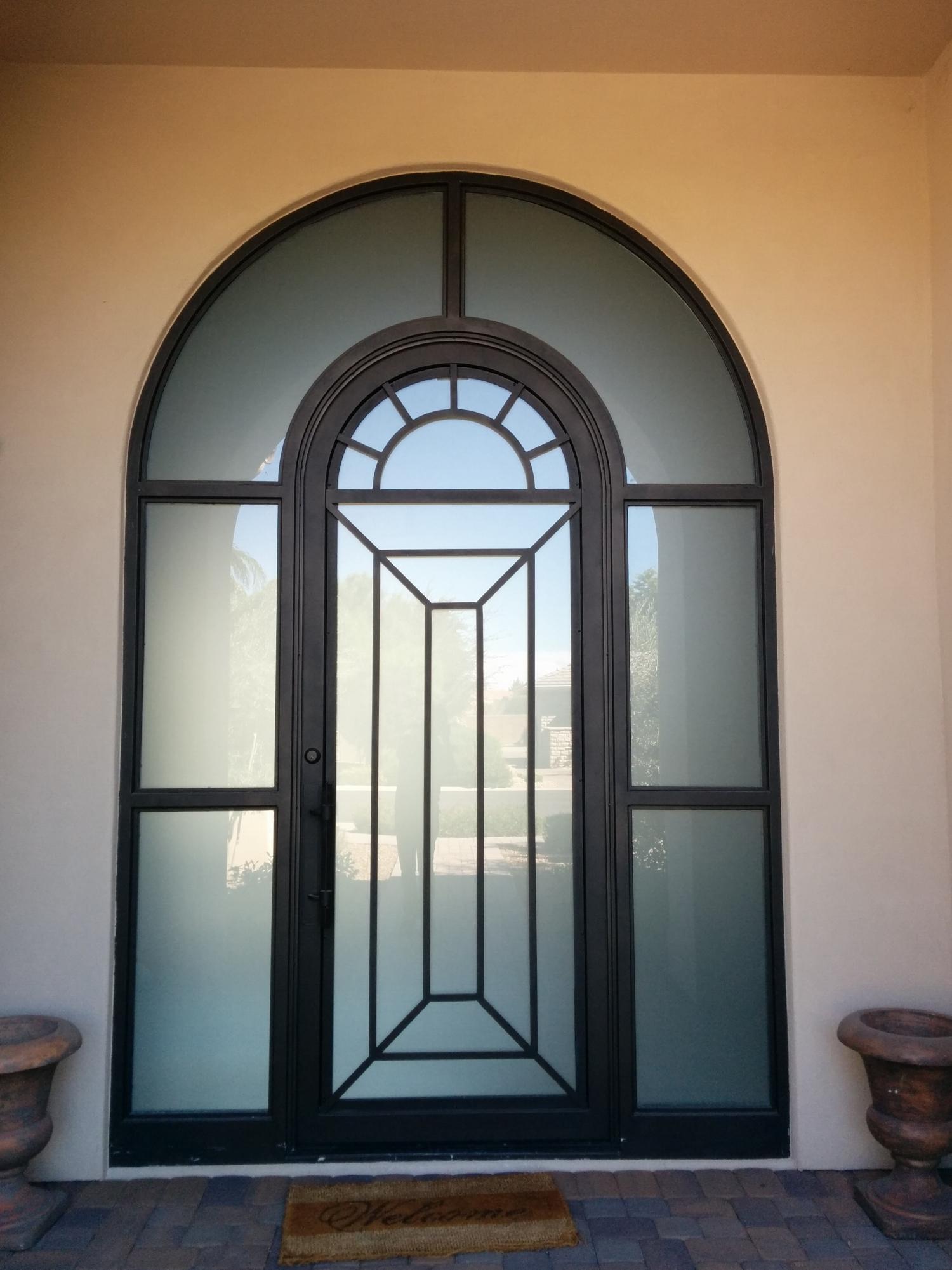 CONTEMPORARY STEEL AND GLASS DOOR 15