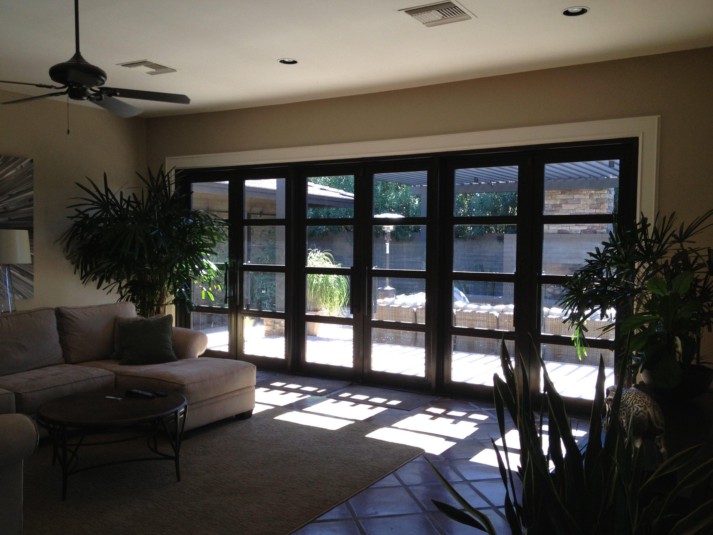 CONTEMPORARY STEEL AND GLASS DOOR 21