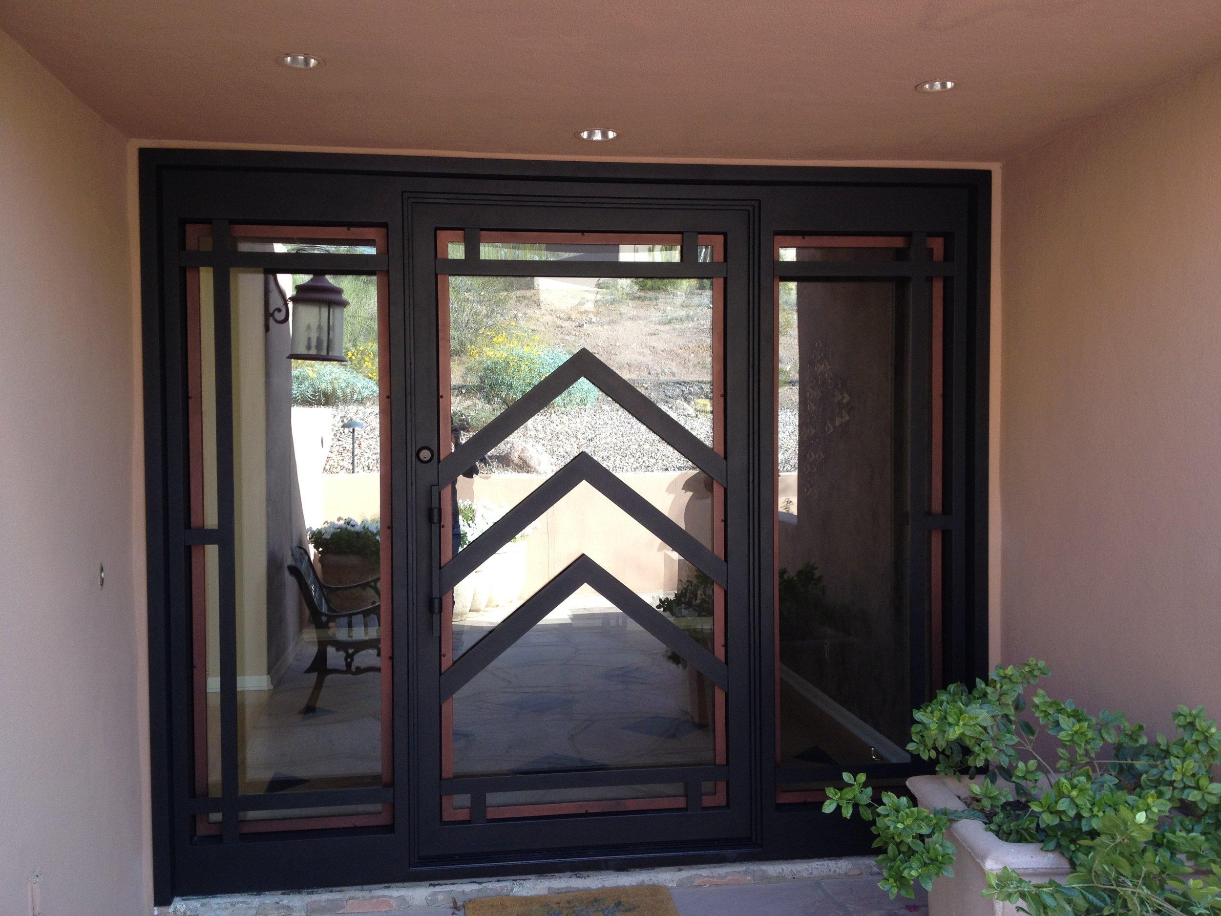 CONTEMPORARY STEEL AND GLASS DOOR 22
