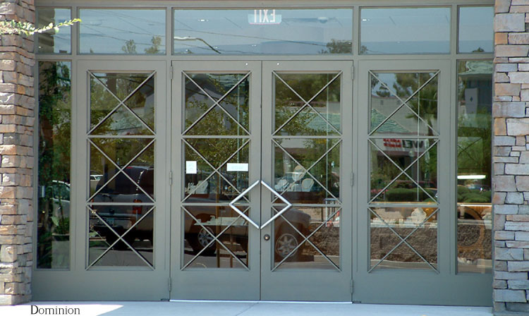 COMMERCIAL IRON AND GLASS DOOR 12
