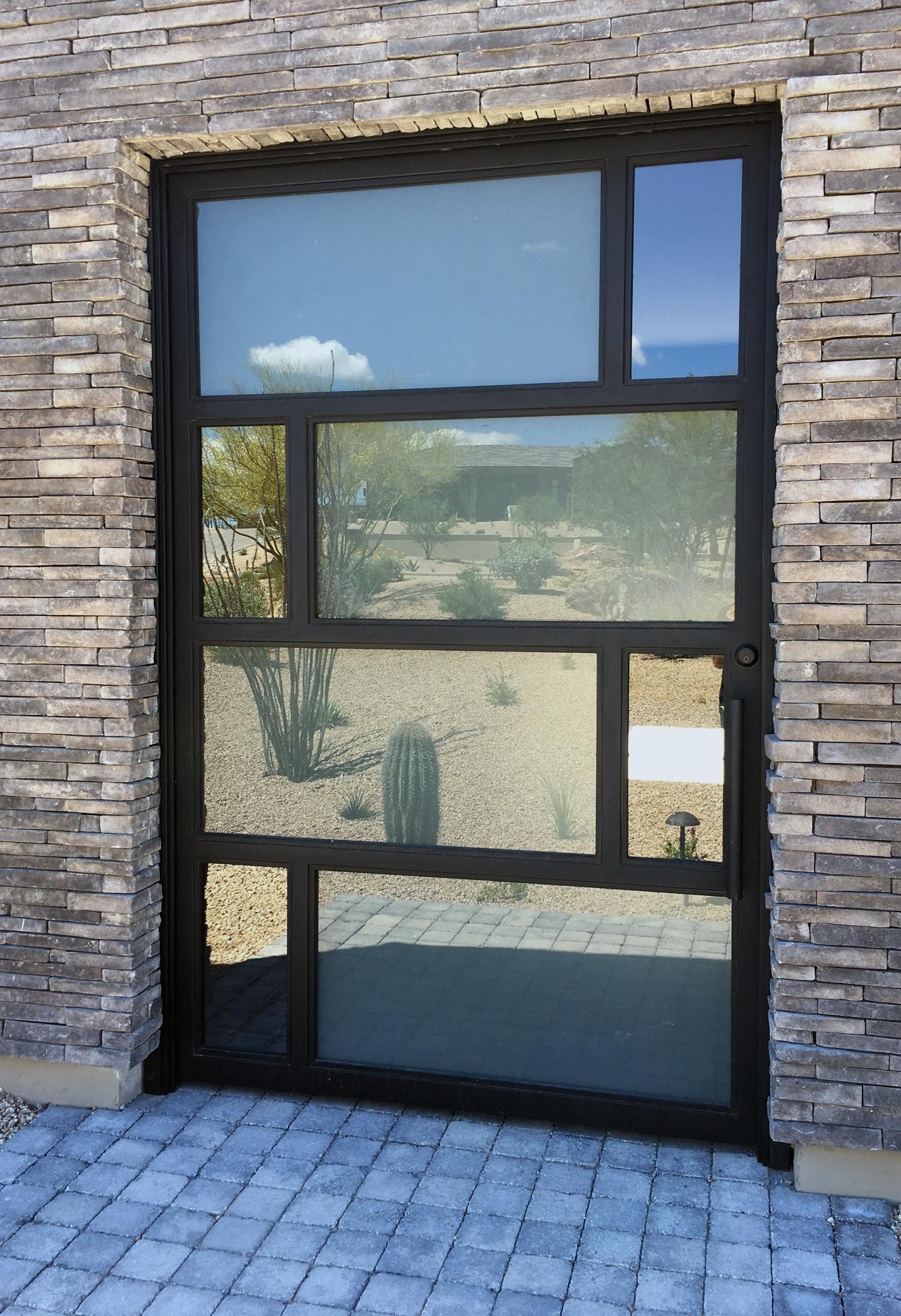 CONTEMPORARY STEEL AND GLASS DOOR 7