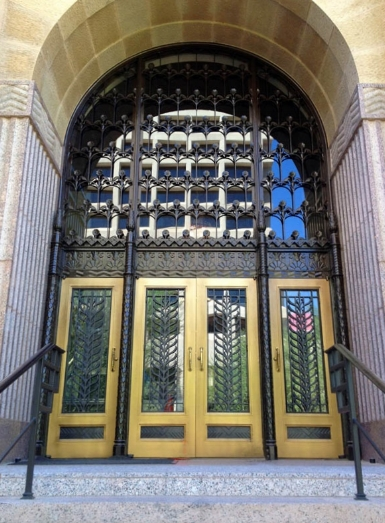 COMMERCIAL IRON AND GLASS DOOR 10