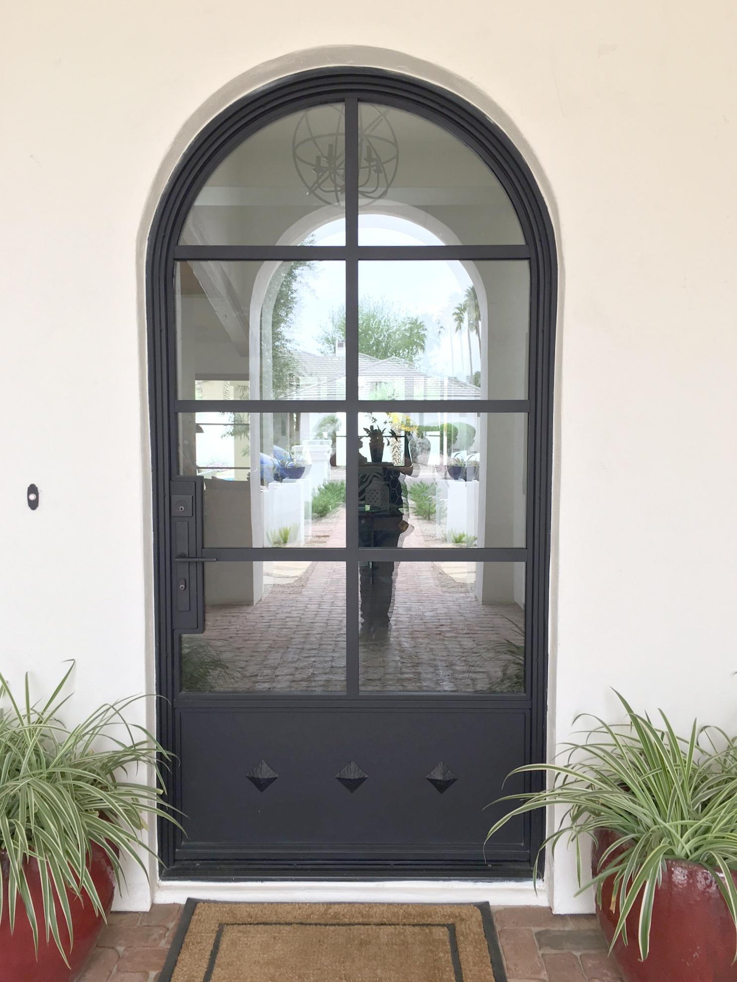 STEEL AND GLASS DOOR 17