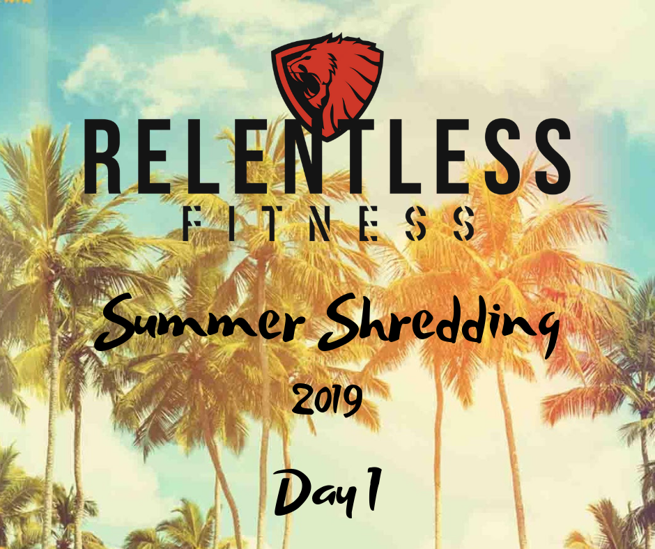 Summer Shredding 2019 Starts Now! - Use this picture in your before pictures so that I know you started on or after April 1st.