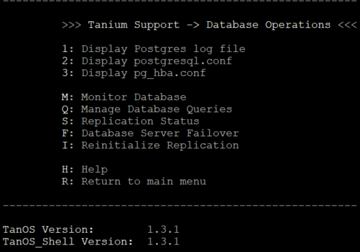 Figure        SEQ Figure \* ARABIC     9      -1.3.x Database Operations menu