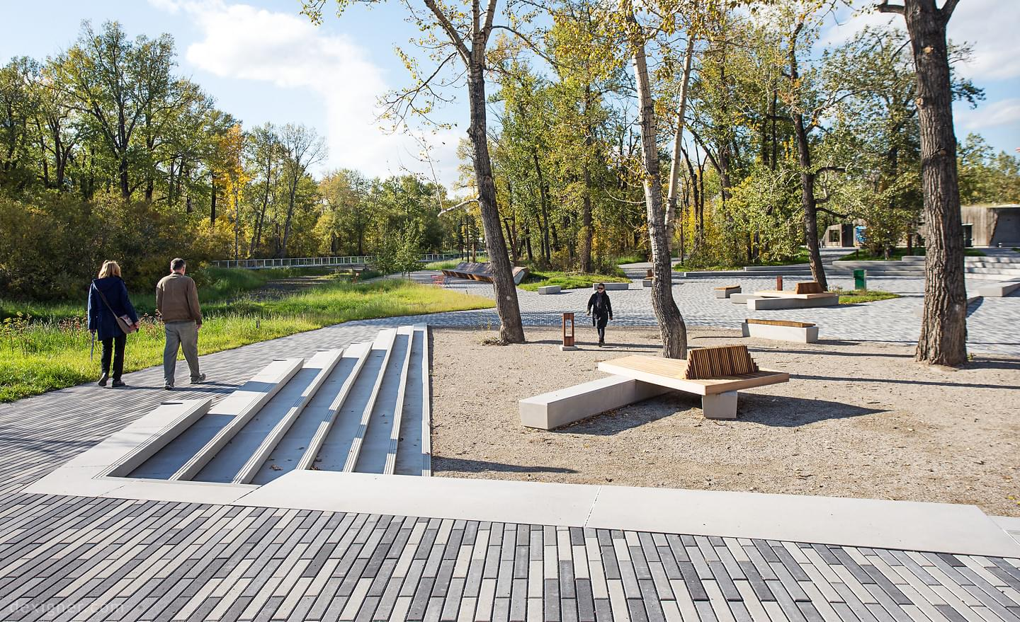 Multi-awarded St Patrick's Island Park, Calgary, Canada. Photo © W Architecture, NY