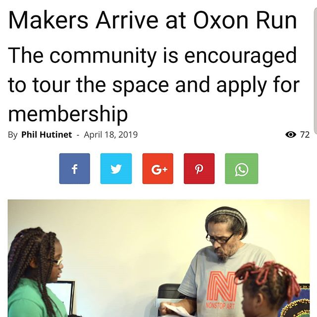 https://eastoftheriverdcnews.com/2019/04/18/nonstop-art-opens-community-maker-space-at-the-overlook-at-oxon-run/  #makerspaces #makingnews #acreativedc  #nonstopartforever #instanews #eastoftheriver #madeindc❤️