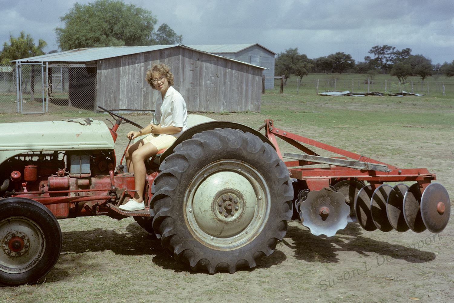 Me on Uncle Byron's Old Tractor - Photo by William C. Jones