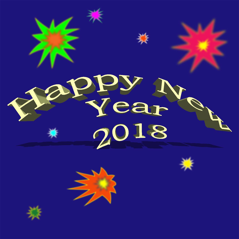 Happy 2018 - Graphics by Susan L. Davenport