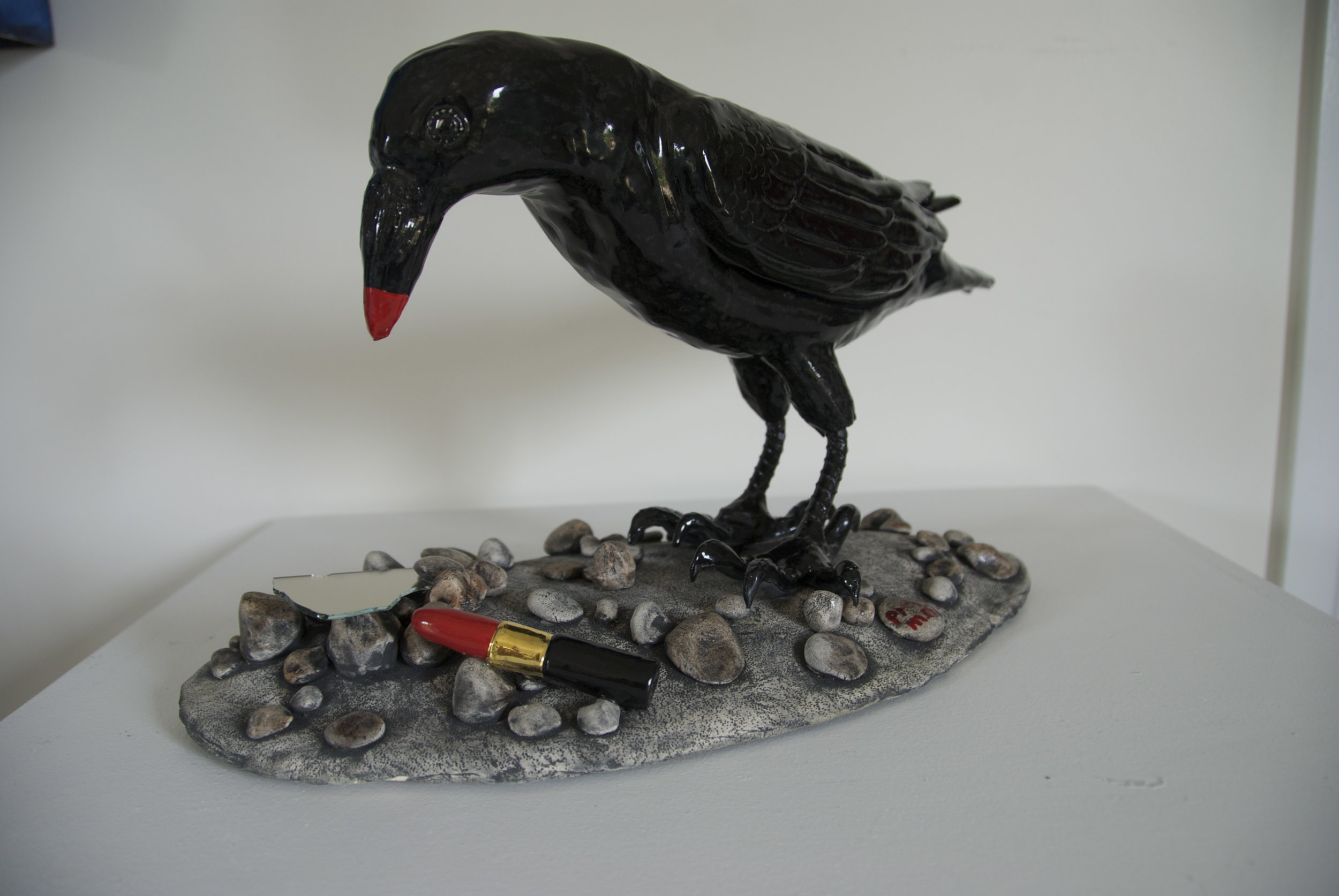 Raven Sculpture by Wendy Ross